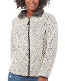 Women's Plus Size Frosty Pile Full Zip Fleece Jacket