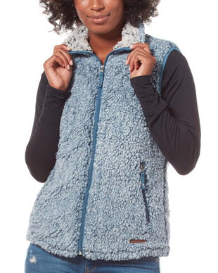 Free Country Women's Frosty Pile Fleece Vest - Agate Blue - S