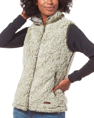 Free Country Women's Frosty Pile Fleece Vest - Olive - S