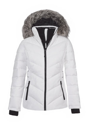 Free Country Women's Gale Power Down Jacket - White - S