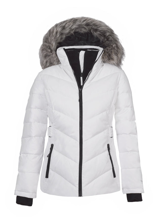 free country woven hooded water resistant heavyweight puffer jacket