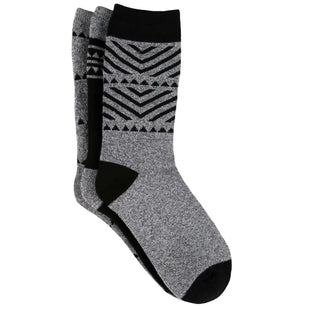 Free Country Women's Geo Basic Full Cushion Crew Socks - Grey - 6-10