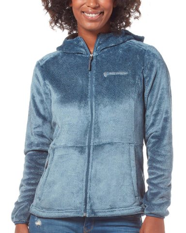 Free Country Women's Harmony Heather Butter Pile® Fleece Jacket - Agate Blue - S