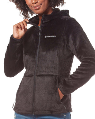 Free Country Women's Harmony Heather Butter Pile® Fleece Jacket - Black - S