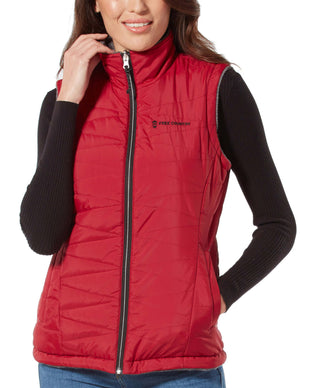 Free Country Women's Highland Cloud Lite Reversible Vest - Etched Red - S