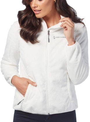 Free Country Women's Leisure Butter Pile® Fleece Jacket - Whisper White - S