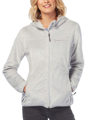 Free Country Women's Leisure Butter Pile Fleece Jacket - Winter Silver - S