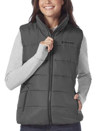 Free Country Women's Linden Cloud Lite Quilted Vest - Charcoal - S