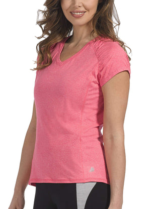 Free Country Women's Microtech Chill Tee - Coral Blush - S