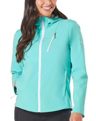 Free Country Women's Plus Size Monsoon X2O Rain Jacket - Mint - 1X