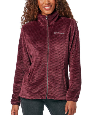 Free Country Women's Mosaic Butter Pile® Fleece Jacket - Beet - S