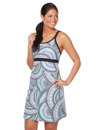 Free Country Women's Mosaic Tile Braided Swim Dress - Mist Blue - S