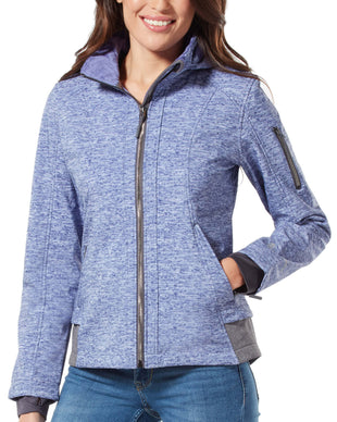 Free Country Women's Plus Size Nova Super Softshell® Jacket - Blueberry - 1X