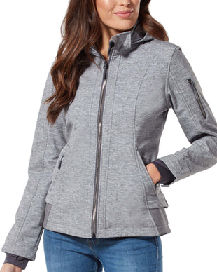 Free Country Women's Plus Size Nova Super Softshell® Jacket - Grey - 1X