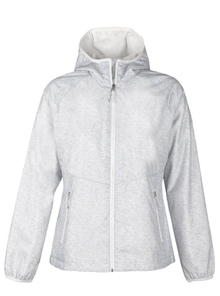 Free Country Women's Petite Brisk Windshear Jacket - Silver Chip - PS