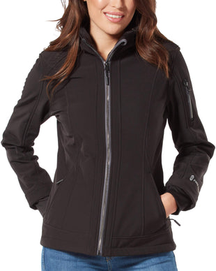 Free Country Women's Petite Freeform Super Softshell® Jacket - Black - PS