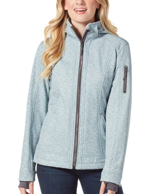 Free Country Women's Petite Freeform Super Softshell® Jacket - Cool Silver - PS