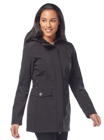 Free Country Women's Petite Maneuver Softshell Jacket - Black