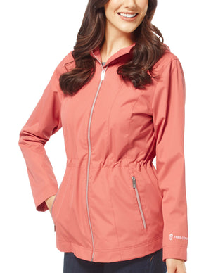 Free Country Women's Petite New Day Radiance Anorak Rain Jacket - Clay - PS