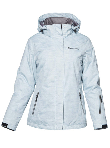 Free Country Women's Petite Trailblazing 3-in-1 Systems Jacket - Silver Chip - PS