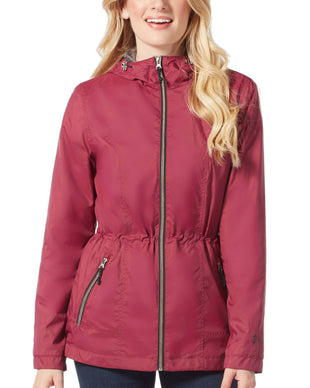 Free Country Women's Petite Planetary Windshear Jacket - Garnet - PS