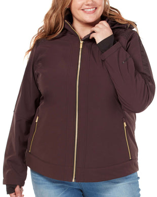 Free Country Women's Plus Size Aerolith Super Softshell® Jacket - Mocha - 1X