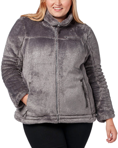 Free Country Women's Plus Size Alpine Butter Pile® Jacket - Slate - 1X