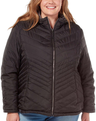 Free Country Women's Plus Size Caliber Midweight Reversible Jacket - Black - 1X