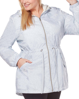 Free Country Women's Plus Size Composure Windshear Jacket - Silver Chip - 1X
