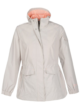 Free Country Women's Plus Size Dawnbreak Radiance Anorak Rain Jacket - Sand Stone - 1X