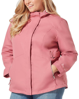 Free Country Women's Plus Size Drizzle Radiance Anorak Jacket - Mauve - 1X
