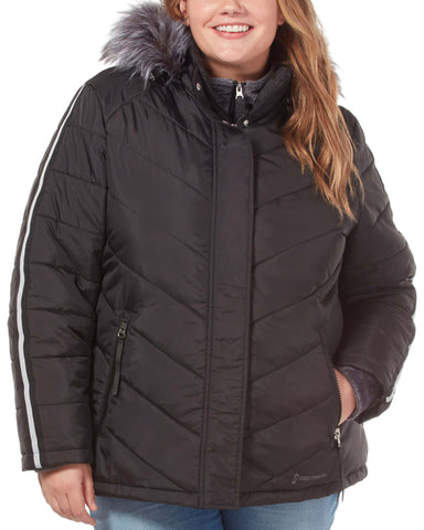 Free Country Women's Plus Size Exhilarate Jacket - Black - 1X