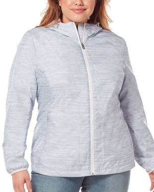 Free Country Women's Plus Size Fervent Windshear Jacket - Winter Silver - 1X