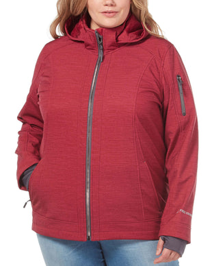 Free Country Women's Plus Size Freeform Super Softshell® Jacket - Etched Red - 1X