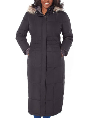 Free Country Women's Plus Size Full Length Splendor Down Jacket - Black - 1X