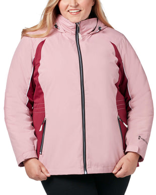 Free Country Women's Plus Size Glide 3-in-1 Systems Jacket - Dusty Pink - 1X