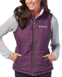 Free Country Women's Plus Size Highland Cloud Lite Reversible Vest - Plum Guitar