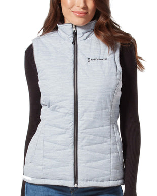 Free Country Women's Highland Cloud Lite Reversible Vest - Silver Chip - S