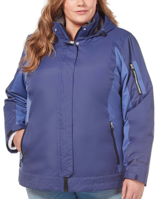 Free Country Women's Plus Size Innovator 3-in-1 Systems Jacket - Cosmic Navy - 1X