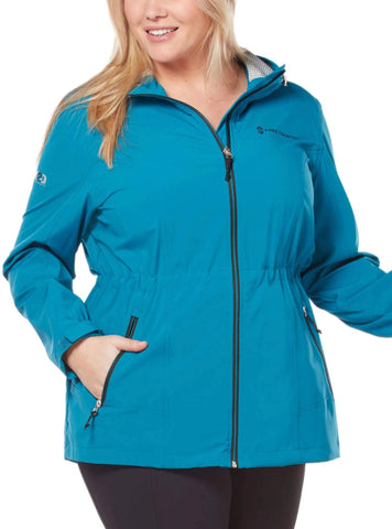 Free Country Women's Plus Size Meander X2O Jacket - Antique Teal