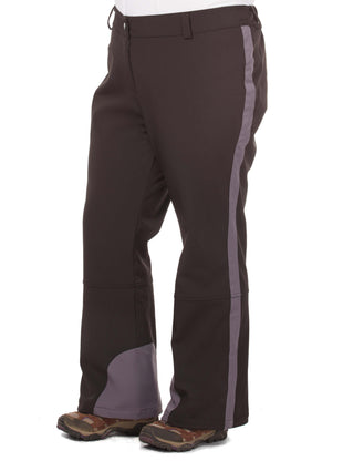 Free Country Women's Plus Size Nimble Super Softshell® Ski Pants - Black - 1X