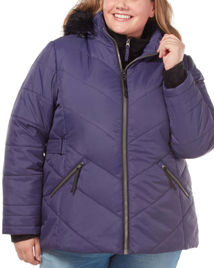 Free Country Women's Plus Size Nimbus Cloud Lite Jacket - Cast Iron - 1X
