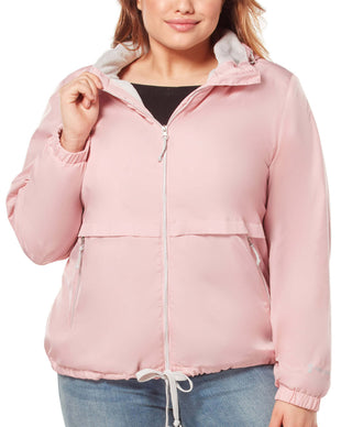 Free Country Women's Plus Size Outland Windshear Jacket - Blush - 1X