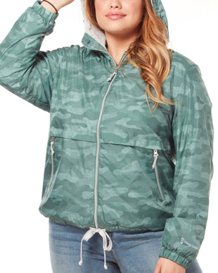 Free Country Women's Plus Size Outland Windshear Jacket - Moss Camo - 1X