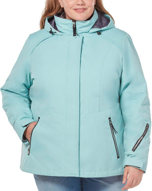 Free Country Women's Plus Size Peak 3-in-1 Systems Jacket - Sea Spray - 1X