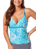 Women's Plus Size Santorini Strappy Sweetheart Tankini Top