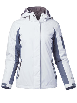 Free Country Women's Plus Size Snowridge 3-in-1 Systems Jacket - White - 1X
