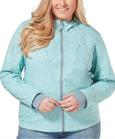Free Country Women's Plus Size Springtime Super Softshell® Jacket - Aqua - 1X