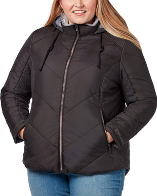 Free Country Women's Plus Size Stratus Cloud Lite Jacket - Black - 1X
