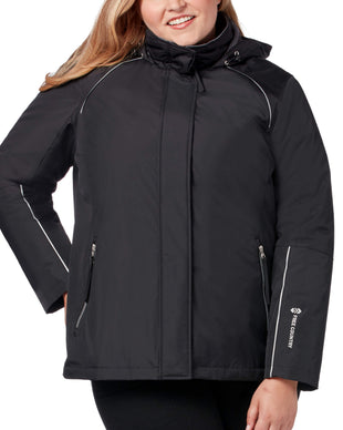 Free Country Women's Plus Size Summit 3-in-1 Systems Jacket - Jet Black - 1X